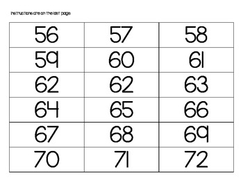 2.NBT.2A Practice Counting Forwards and Backwards within 1,000 Cards