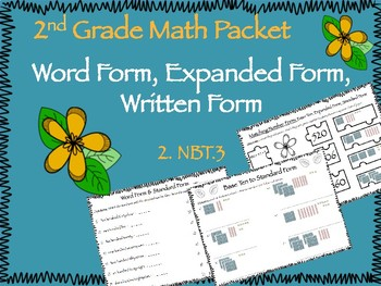 2.NBT.3 Expanded and Word Form Packet