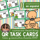 2NBT3 SPANISH Leer y Escribir Números *QR* MATH TASK CARDS
