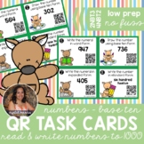 2NBT3 Read & Write Numbers *QR* MATH TASK CARDS
