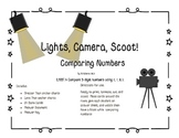 2.NBT.4 Lights, Camera, Scoot!  Compare 3 Digit Numbers