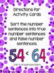 2NBT4 Number Comparisons Sort Based on True False Math Center