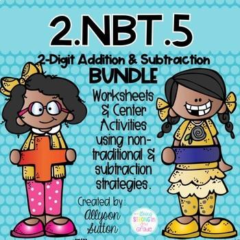 2.NBT.5  CCSS 2 Digit Addition & Subtraction Strategy BUNDLE