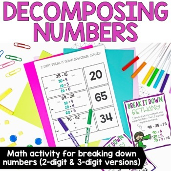 Two-Digit & Three-Digit Subtraction Strategies Centers and Printables
