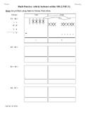 (2.NBT.5) Add & Subtract -2nd Grade Math Worksheets- 3rd 9 Weeks