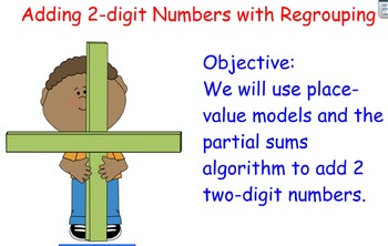 2nd Grade Math: 2.NBT.5 Adding two 2-digit numbers with Regrouping