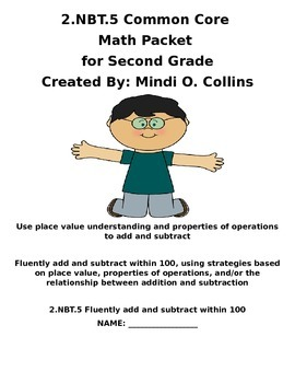 2.NBT.5 Common Core Math Packet for Second Grade