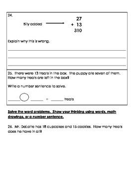 2.NBT.5 Math Assessment