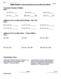 (2.NBT.6 & 2.NBT.9) Adding up to 4 numbers-2nd Grade Math Worksheets-1st 9 Weeks