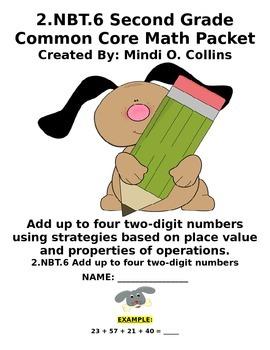 2.NBT.6 Common Core Second Grade Math Packet