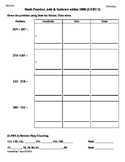 (2.NBT.7) Add & Subtract -2nd Grade Common Core Math Worksheets-  3rd 9 Weeks