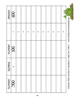 2.NBT.7 Second Grade Common Core Worksheets, Activity, and Poster