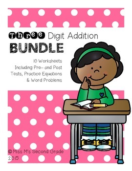Three Digit Addition BUNDLE
