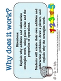 2.NBT.9 Second Grade Common Core Worksheets, Activity, and Poster
