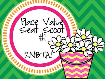 2.NBT.A.1 Place Value Seat Scoot Class Activity #1