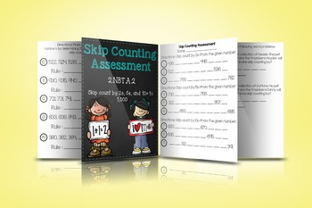 2.NBT.A.2 Skip Counting Assessment