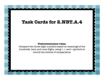 2.NBT.A.4 Task Cards