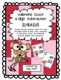 2.NBT.B.5 Subtracting 2 Digit Numbers Valentine Scoot Game