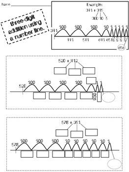 2.NBT.B.6 and 2.NBT.B.7 Unit BUNDLE: Independent Work, Game, Assessment
