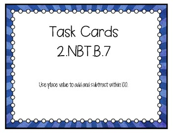 2.NBT.B.7 Task Cards