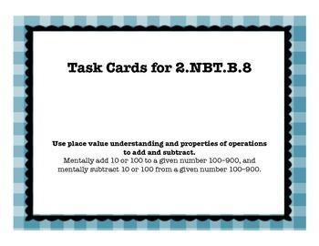 2.NBT.B.8 Task Cards