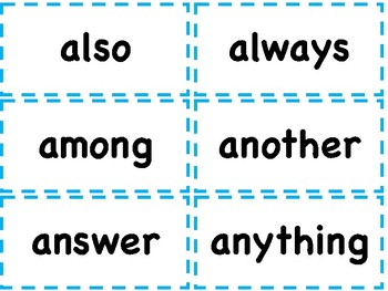 2ND GRADE HIGH FREQUENCY WORD CARDS SIGHT WORDS OR FLASH CARDS - WORD WALL 300