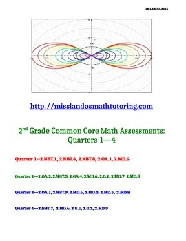 2ND GRADE Common Core Math Assessments: Qrtrs. 1--4 [ANSWE