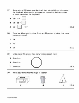 2ND GRADE EOY 50 QUESTION TEST