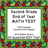 2ND GRADE EOY 50 QUESTION TEST