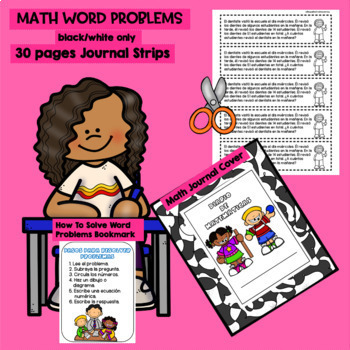 FEBRUARY - 2ND GRADE MATH WORD PROBLEMS IN SPANISH - CCSS 2.0A.1