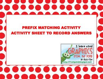 2ND GRADE PREFIX LEARNING CENTER ACTIVITY