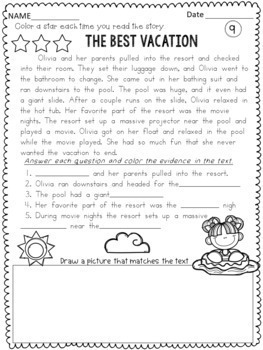 free reading passages for 3rd grade