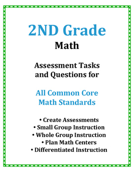 2ND Grade Math Common Core Assessment Questions and Tasks