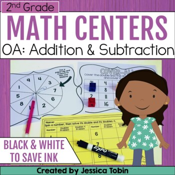 2nd Grade Math Centers- Operations and Algebraic Thinking OA