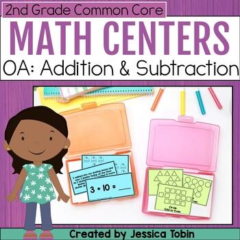 2nd Grade Math Centers- Operations and Algebraic Thinking OA
