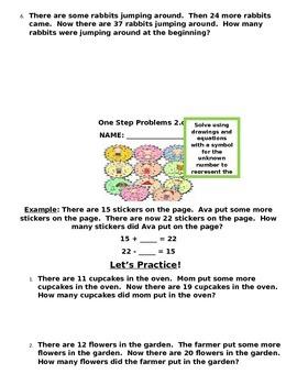 2.OA Common Core Second Grade Math Packet