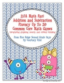 2.OA Math Fact  Addition and Subtraction Fluency Up To 20 Common Core Math Games