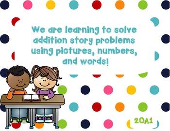2OA1 Addition Story Problems Smartboard Activity