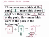 2.OA.1 -Story Problem Structure (The ideas how to teach word problems)