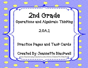 2.OA.1 Student Practice Pages and Task Cards