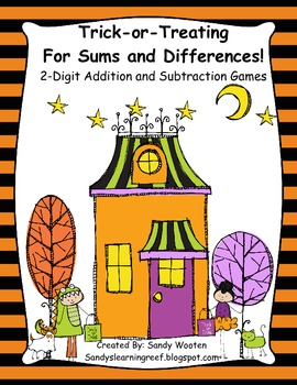 2.OA.1 Trick-or-Treating for Sums & Differences!  2-Digit Word Problems and Game