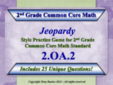 2.OA.2 Jeopardy Game 2nd Grade Math 2 OA.2 Fluently Add & Subtract Within 20