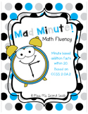 2OA2 Mad Minute Math Addition Fluency