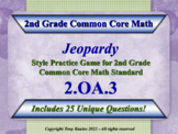 2.OA.3 2nd Grade Math Jeopardy Game - Odd Or Even Numbers