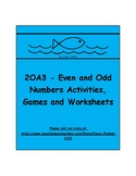 2OA3 - Even and Odd Numbers - Activities, Games and Worksheets