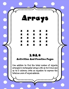 2.OA.4 Array Activities