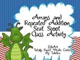 2.OA.4 Array Seat Scoot Class Activity