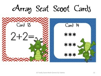 2.OA.4 Array Seat Scoot Class Activity
