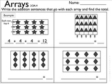 2OA4 Arrays- Students write addition sentences for arrays