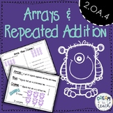 2.OA.C.4 and 2.G.2 Arrays & Repeated Addition Worksheets